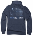 Battlestar Galactica pull-over hoodie Simple Question Classic adult navy