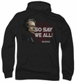 Battlestar Galactica pull-over hoodie So Say We All adult black