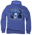 Battlestar Galactica pull-over hoodie Take Me Classic adult royal blue