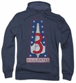 Battlestar Galactica pull-over hoodie Vigilantes Badge adult navy