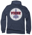 Battlestar Galactica pull-over hoodie Viper Badge adult navy