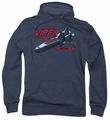 Battlestar Galactica pull-over hoodie Viper Mark II adult navy