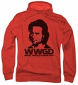 Battlestar Galactica pull-over hoodie WWGD adult red
