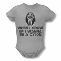 Battlestar Galactica snapsuit Grow Up Cylon heather