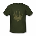 Battlestar Galactica t-shirt Phoenix mens military green