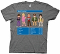 Big Bang Theory 8 Bit Adventure mens t-shirt pre-order