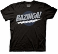 Big Bang Theory Bazinga! Dark mens t-shirt pre-order