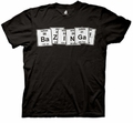 Big Bang Theory Bazinga Periodic Table mens t-shirt pre-order