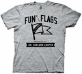 Big Bang Theory Fun with Flags adult mens t-shirt pre-order