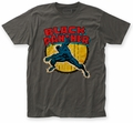 Black Panther Punch fitted jersey T-shirt charcoal mens