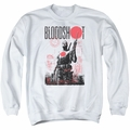 Bloodshot adult crewneck sweatshirt Death By Tech white