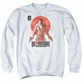 Bloodshot adult crewneck sweatshirt Reborn white