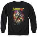 Bloodshot adult crewneck sweatshirt Vintage Bloodshot black