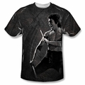 Bruce Lee front sublimation t-shirt Dragon Print short sleeve White
