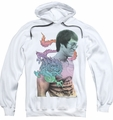 Bruce Lee pull-over hoodie A Little Bruce adult white