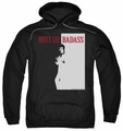 Bruce Lee pull-over hoodie Badass adult black