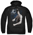 Bruce Lee pull-over hoodie Dragon Stance adult black