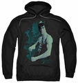 Bruce Lee pull-over hoodie Feel adult black