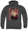 Bruce Lee pull-over hoodie Fury adult charcoal
