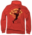 Bruce Lee pull-over hoodie Immortal Dragon adult red