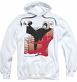 Bruce Lee pull-over hoodie Kick It adult white