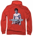 Bruce Lee pull-over hoodie Lee Works Out adult red