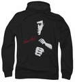 Bruce Lee pull-over hoodie The Dragon Awaits adult black