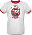 Bruce Lee ringer t-shirt Jeet Kune adult white red