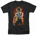 Bruce Lee t-shirt Dragon Fire mens black