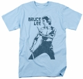 Bruce Lee t-shirt Fighter mens light blue