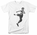 Bruce Lee t-shirt Flying Kick mens white