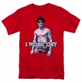Bruce Lee t-shirt Lee Works Out mens red