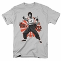 Bruce Lee t-shirt Meaning Of Life mens silver