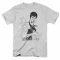 Bruce Lee t-shirt Punch mens silver