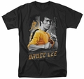 Bruce Lee t-shirt Yellow Dragon mens black