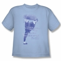 Bruce Lee youth t-shirt 10,000 Kicks light blue