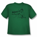 Bruce Lee youth t-shirt Brush Lee kelly green