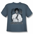 Bruce Lee youth t-shirt Concentrate slate