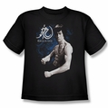 Bruce Lee youth t-shirt Dragon Stance black