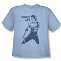 Bruce Lee youth t-shirt Fighter light blue