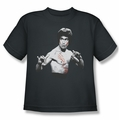 Bruce Lee youth t-shirt Final Confrontation charcoal