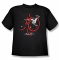 Bruce Lee youth t-shirt High Flying black