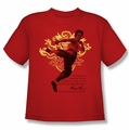 Bruce Lee youth t-shirt Immortal Dragon red