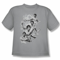 Bruce Lee youth t-shirt In Motion silver