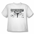Bruce Lee youth t-shirt Kick To The Head white