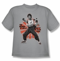 Bruce Lee youth t-shirt Meaning of Life silver