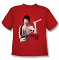Bruce Lee youth t-shirt Nunchucks red