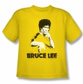 Bruce Lee youth t-shirt Suit Splatter yellow