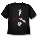 Bruce Lee youth t-shirt The Dragon Awaits black