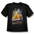 Bruce Lee youth t-shirt Yellow Dragon black